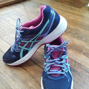Asics Gel 10 Navy Pink Tennis Shoes 👟